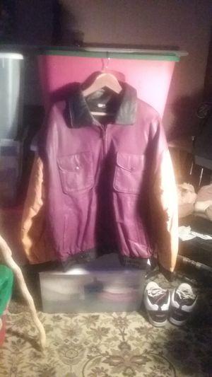 Leather Redskin Jacket/Coat EXTRALARGE for Sale in Fairfax, VA