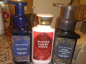 Bath and body works soaps and body lotion pick up now for $12!! for Sale in Tampa, FL