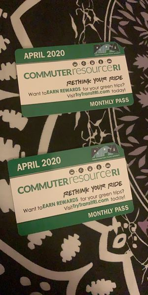 April bus passes 30$ each for Sale in Pawtucket, RI