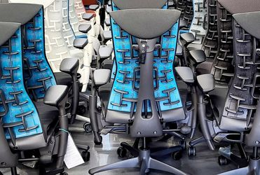 2021 BRAND NEW HERMAN MILLER LOGITECH X GAMING EMBODY CHAIRS MANY OTHER FABRIC/FRAME COLOR COMBOS AVAILABLE! ALL IN STOCK BEST PRICES GUARANTEED! for Sale in Monterey Park,  CA