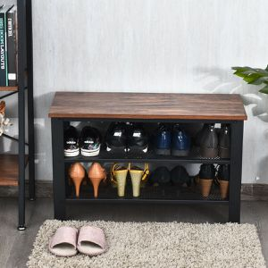 3-Tier Shoe Rack Industrial Shoe Bench with Storage Shelves for Sale in Canyon Lake, CA