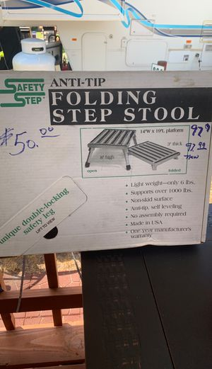 RV Deluxe Folding Step Stool for Sale in Portland, OR