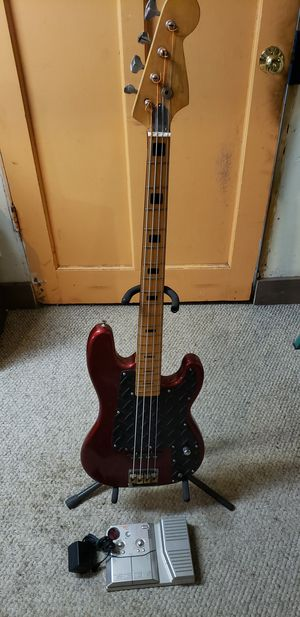 Cortez Bass Guitar with Effects Pedal for Sale in Sacramento, CA