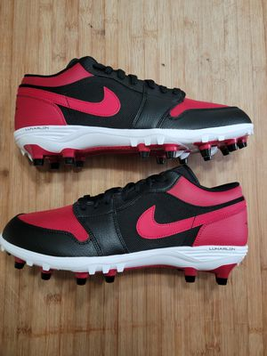 Jordan 1 Low TD Football Cleat 'Bred' Sz 12.0 - Air Jordan - AV5292 061 for Sale in Ansonia, CT