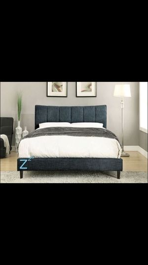 BRAND NEW Fabric Platform Bed Frame In Twin, Full, Queen, King, Cal King for Sale in San Francisco, CA