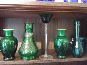 Green glass collection for Sale in Oregon City, OR