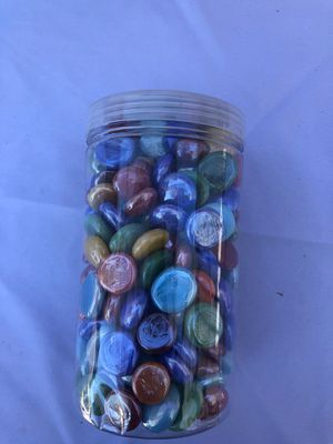 Jar of glass beads for Sale in Fontana, CA