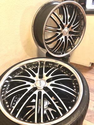 "20""Exotic Alloys rims w/3 low profile tires for Sale in Glendale, AZ"