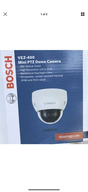 BOSCH VEZ-400 MINI PTZ DOME CAMERA BRAND NEW. 5 Cameras. for Sale in Galloway, OH