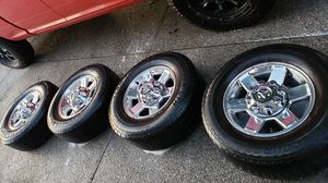 Chrome Rims with tires off a 2013 Ram 2500 for Sale in Auburn, WA