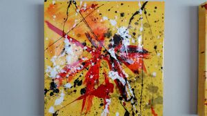 18 x 18 epoxy resin abstract art for Sale in Houston, TX