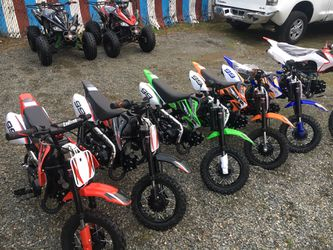 Brand new 2021 KAIT kids dirt bike pit bike 70 CC And 110cc for Sale in University Place,  WA