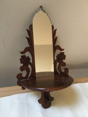 Victorian wall shelf mini with mirror for Sale in Portland, OR