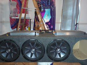 4 ,12inc Kickers 2 Auto phonics 3000 watts, for Sale for sale  Jonesboro, GA