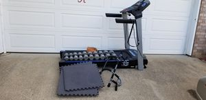 Treadmill and dumbbells for Sale in Smyrna, TN