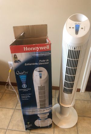 Honeywell QuietSet Whole Room Tower Fan, HY-105 for Sale in Issaquah, WA