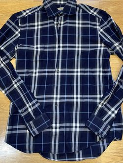 Burberry Brit Men's M Blue Checkered Shirt for Sale in Milwaukie,  OR