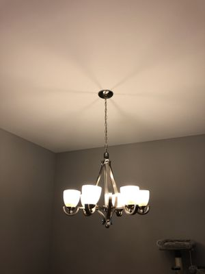 Living room chandelier. Works with dimmer too. for Sale in Fairfax, VA