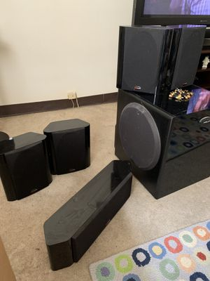 Polk audio surround sound with subwoofer for Sale in Keansburg, NJ