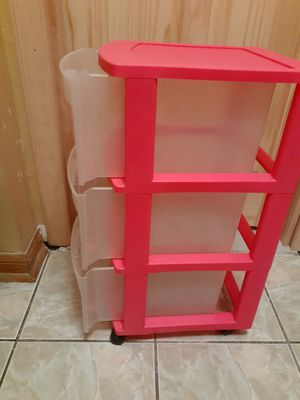 3 DRAWERS STORAGE CONTAINER with WHEELS for Sale in Downey, CA