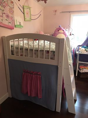Kids loft bed with Tent ⛺️- Twin size for Sale in Sunnyvale, CA