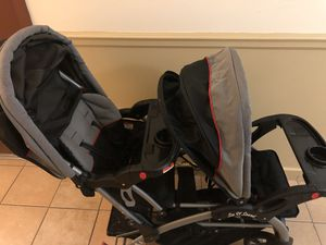 Baby Trend sit and stand double stroller, including rain plastic for Sale in The Bronx, NY