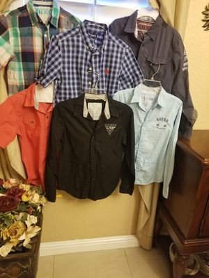 Camisas guess semi nuevas size 12 for Sale in Lynwood, CA