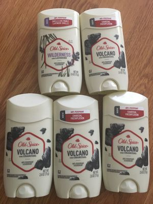 4 OLD SPICE VOLCANO 1 LAVENDER WITH CHARCOAL for Sale in Elk Grove Village, IL