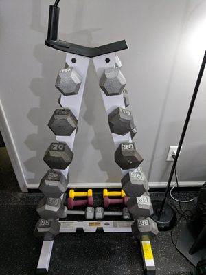 Dumbbell Set & Rack for Sale in Saint Clair Shores, MI