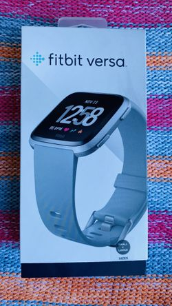 Fitbit Versa Smart Watch Fitness Activity Tracker Gray Silver small & large for Sale in Anaheim,  CA