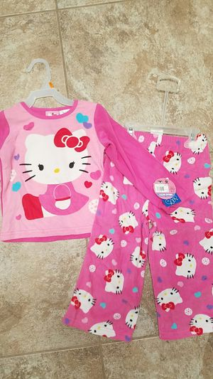Brand new with tags girls size 4T hello kitty name brand winter fall 2 peice pajamas for Sale in Winston-Salem, NC