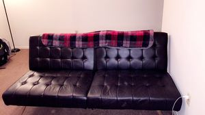 Black Leather Futon for Sale in Fort Smith, AR
