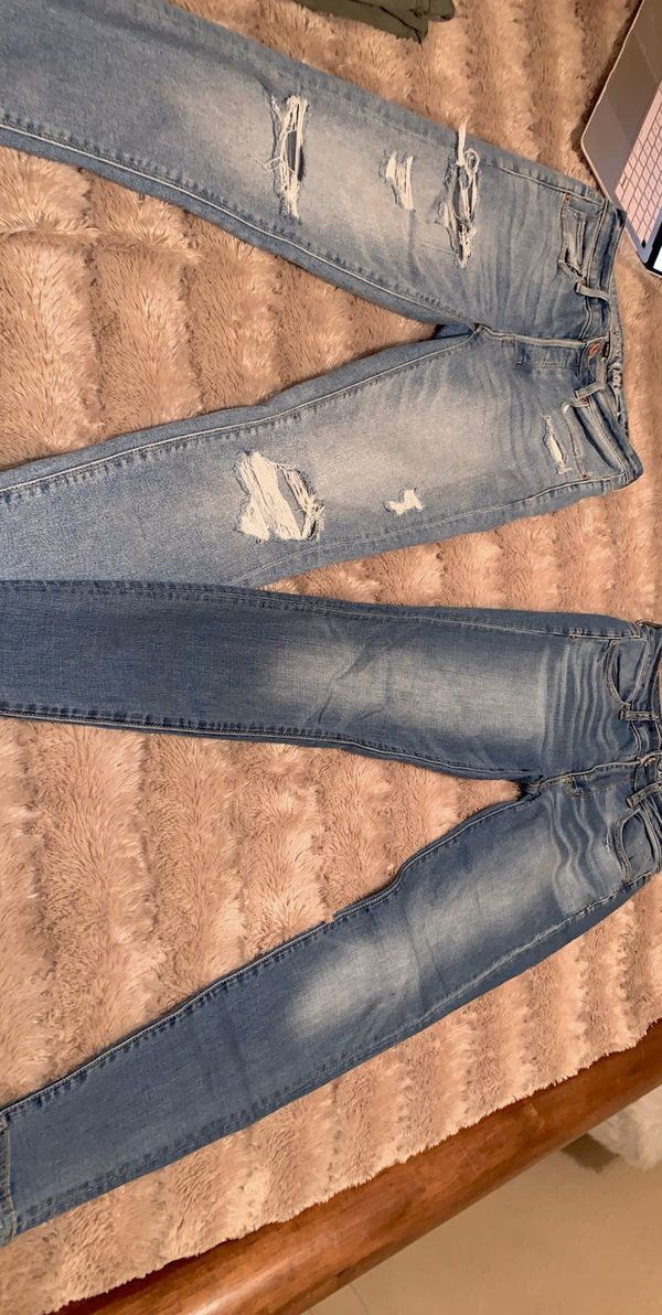 American Eagle High and Low Waisted Jeans