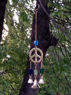 """Peace Sign Chakra Colored Beads 10"""" Wind Chime Sun Catcher for Sale in Nashville, TN"""