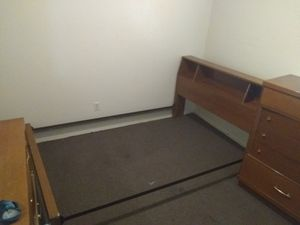 Queen bed frame dresser and nightstand for Sale in Memphis, TN
