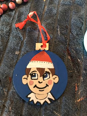 Handpainted woodslice ornaments for Sale in Fontana, CA