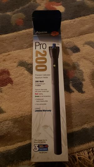Aqueon pro 200 watt aquarium heater for Sale in Montgomery Village, MD