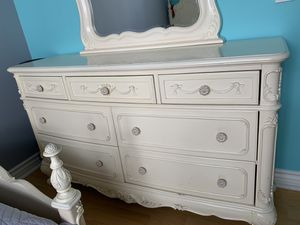 Girls bedroom furniture including nightstand and dresser with mirror. for Sale in Glendale, CA