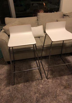 White bar stools for Sale in Arlington, VA