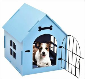 NEW Blue Dog Small Play Pen Wooden Dog house indoor outdoor for living dining bedroom for Sale in Toms River, NJ