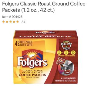 Folgers coffee packets for Sale in Pomona, CA