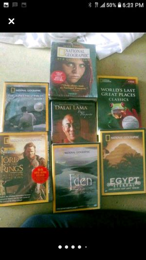 7-National Geographic DVDS. BRAND NEW. $25 for Sale in Madison Heights, MI