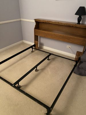 Queen Bed Frame and dresser with mirror. for Sale in Carol Stream, IL