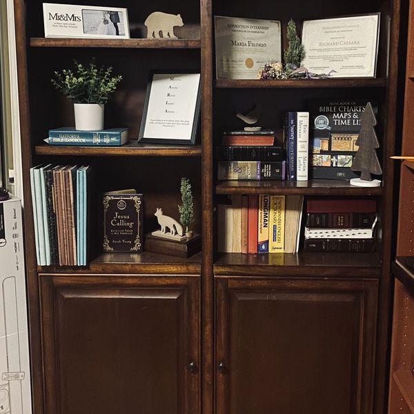 Beautiful Mocha Book Shelf.