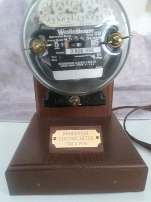 Westinghouse Residential Electric Meter Lamp Vintage Circa 1920 for Sale in Banning, CA