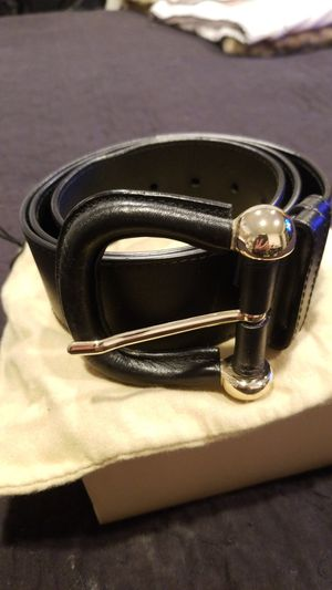 Womens Burberry black belt for Sale in Placentia, CA