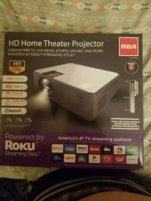 RCA projector with Roku streaming stick for Sale in Saint Paul, MN