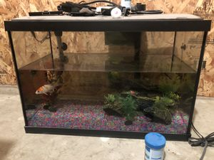 20 gallon fish tank set for Sale in Canby, OR