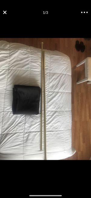 Black curtain and gold curtain rod for Sale in Miami, FL