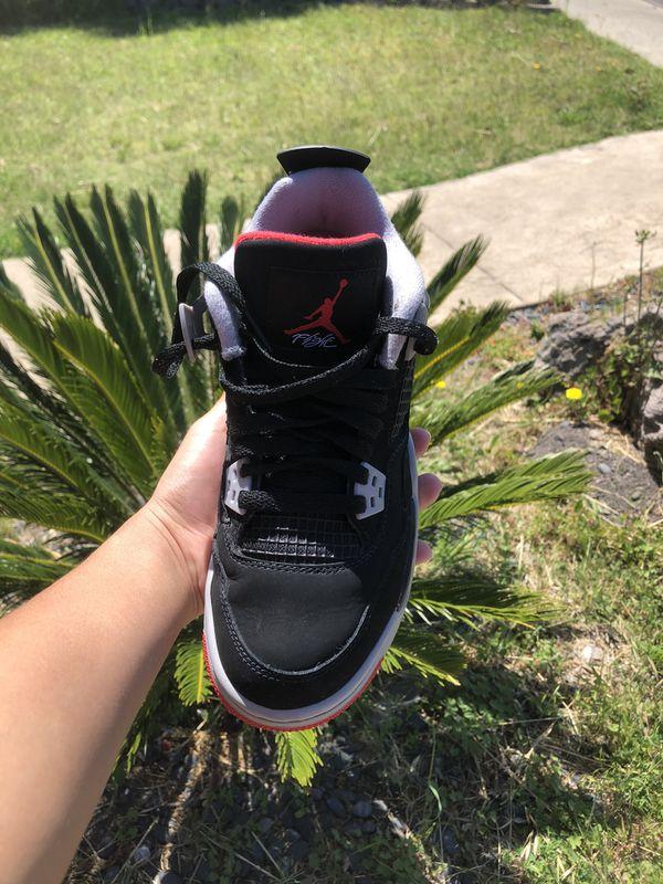 Jordan 4 Bred Size 6 y